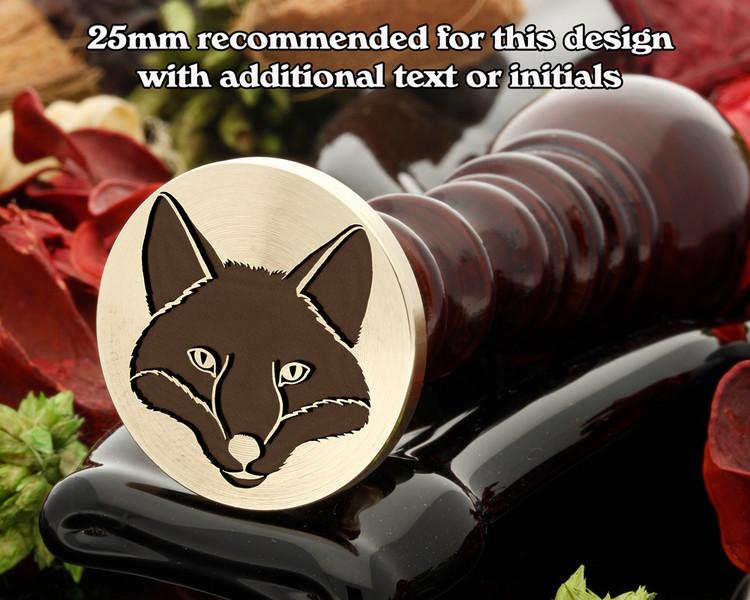 Fox Head D2 Wax Seal Stamp