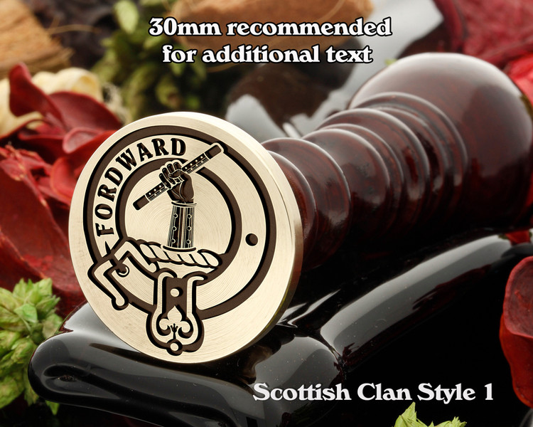 Balfour Scottish Clan Wax Seal D1