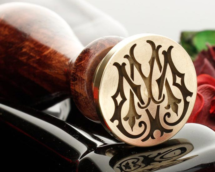 Victorian Monogram Wax Seal MM design 1
