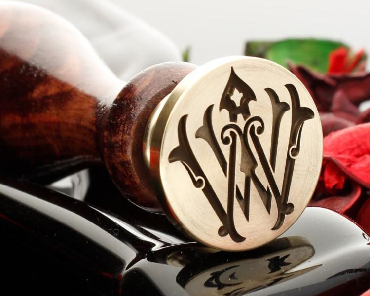 Victorian Monogram Custom Wax Seal Laser Engraved Design 1
