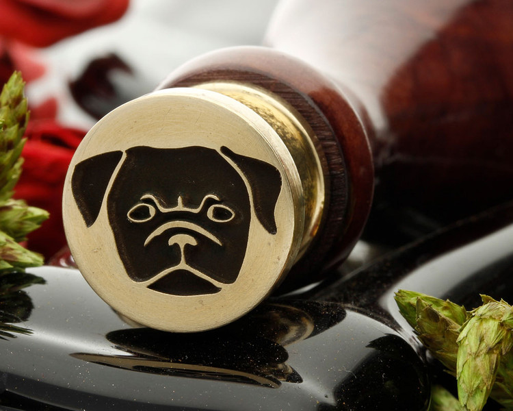 Pug Dog Face Wax Seal Stamp