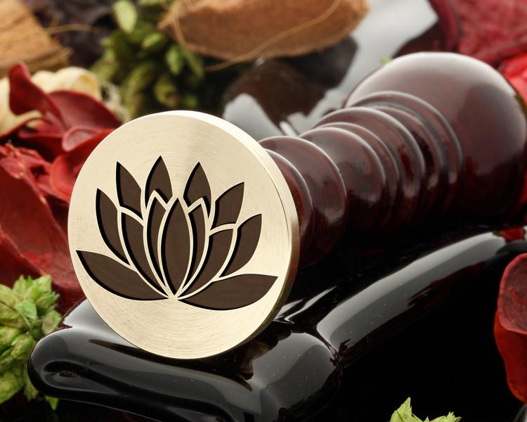 Lotus Flower D2 wax seal stamp
