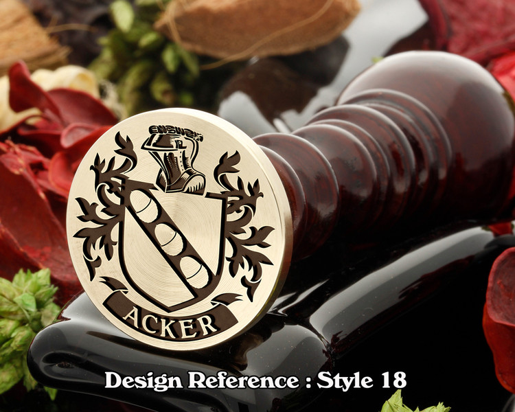Acker Family Crest Wax Seal