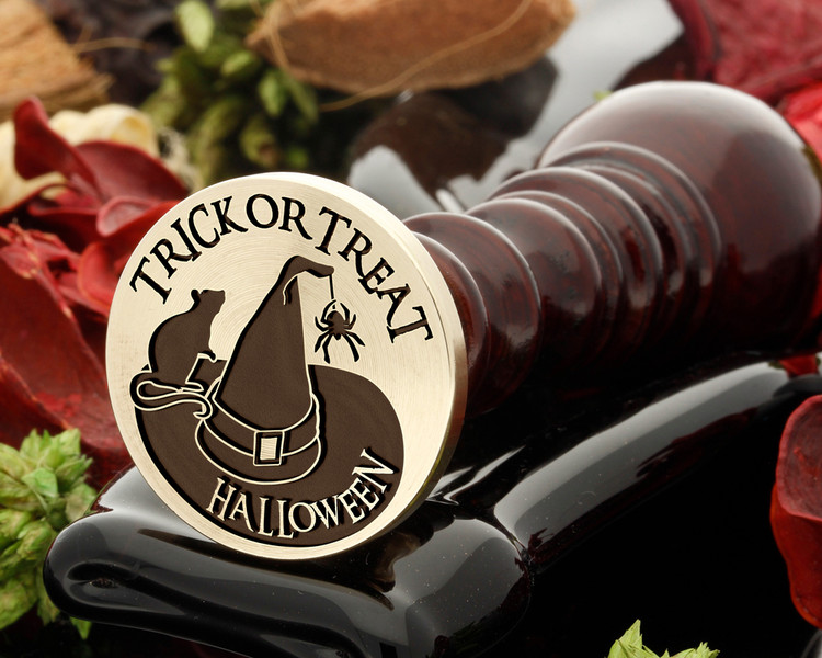 Trick or Treat Witches Hat Halloween Wax Seal