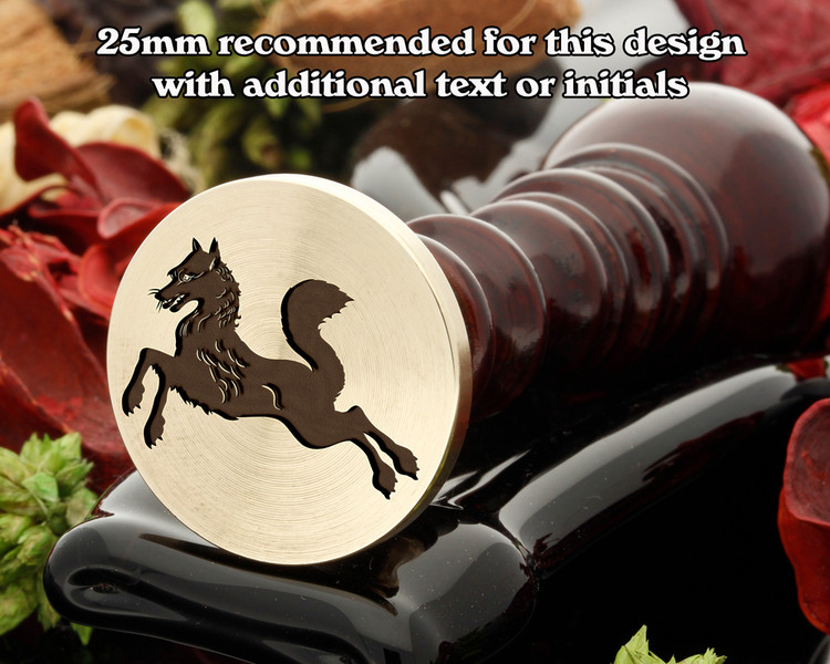 Heraldry Fox Courant Wax Seal Stamp