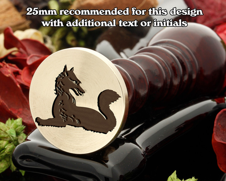 Heraldry Fox Couchant Reguadant Wax Seal Stamp