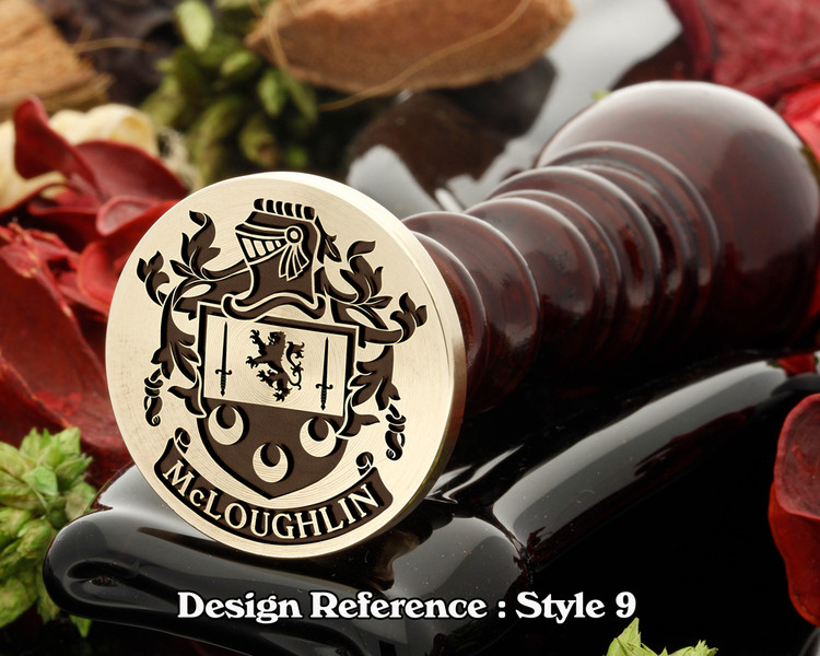 McLoughlin Family crest wax seal D9