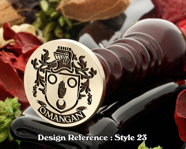 O'Mangan family crest wax seal D23