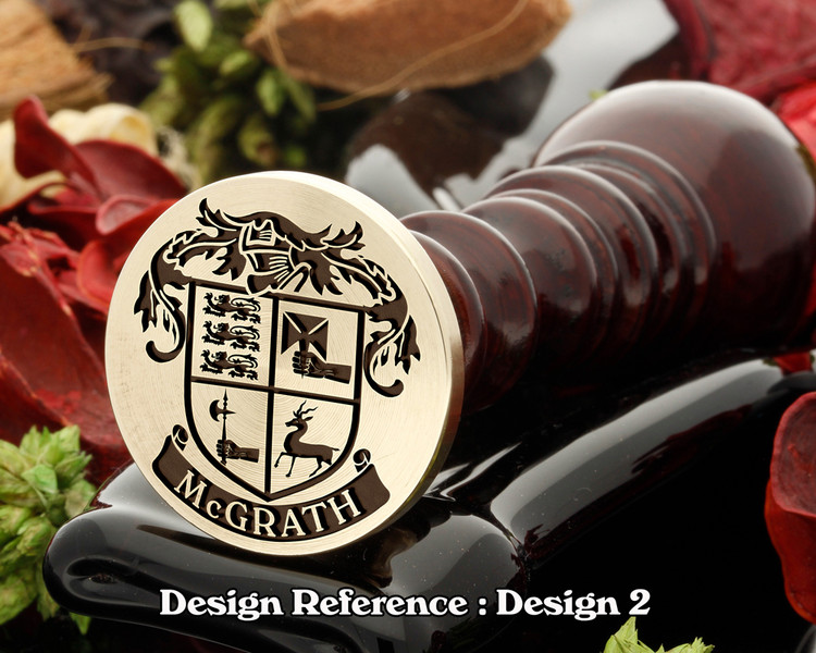 McGrath (Irish) Family Crest Wax Seal