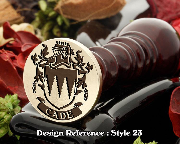 Cade Family Crest Wax Seal D23
