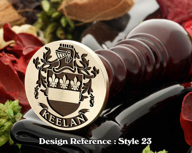 Keelan Family Crest Wax Seal D23