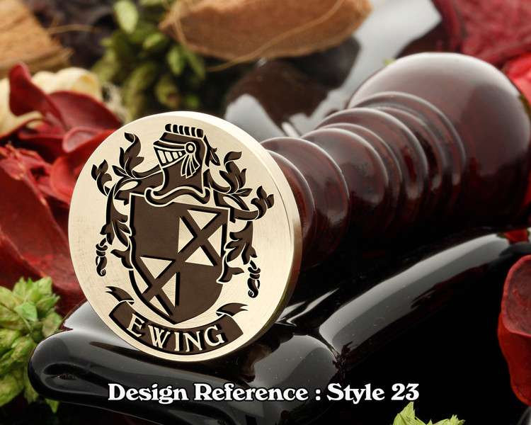 Ewing Family Crest Wax Seal D123