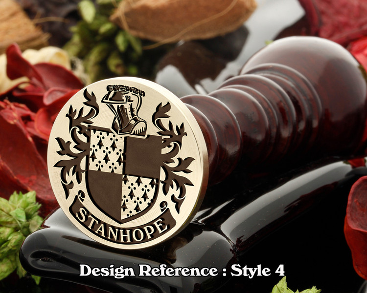 Stanhope Family Crest Wax Seal D4