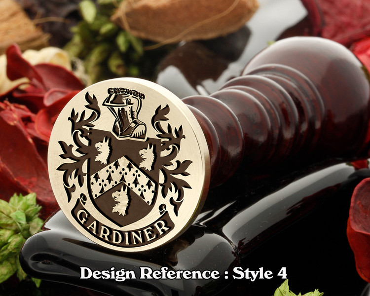 Gardiner Family Crest Wax Seal D4