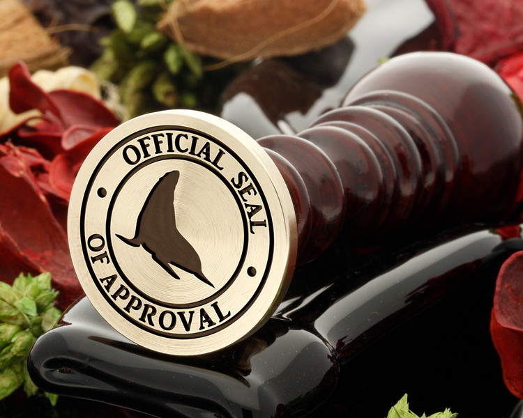 SEAL OF APPROVAL wax seal from 25mm, design as shown only