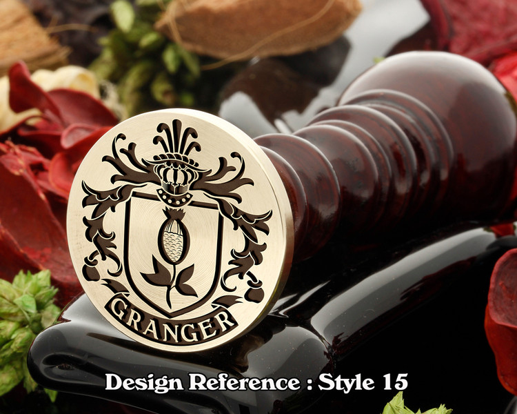Granger Family Crest Wax Seal D15