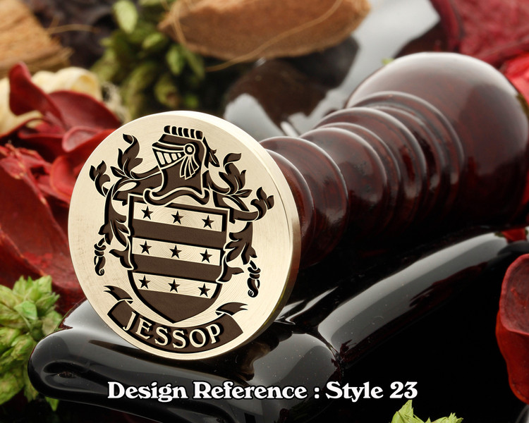 Jessop Family Crest Wax Seal D23