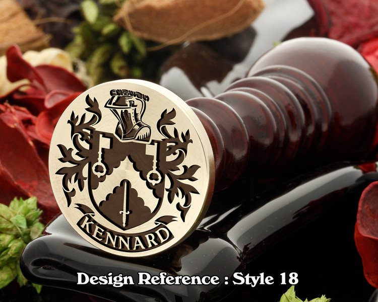 Kennard Family Crest Wax Seal D23