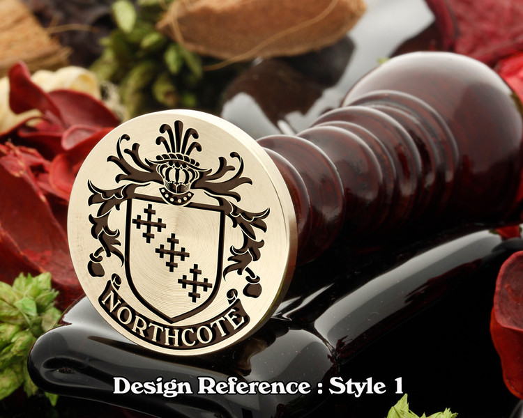 Northcote Family Crest Wax Seal D1