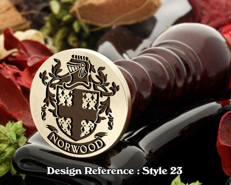 Norwood Family Crest Wax Seal D23