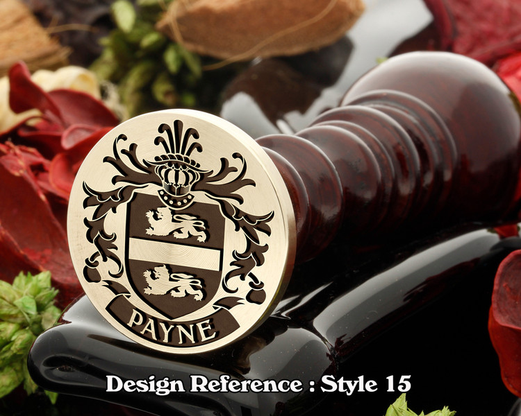 Payne Family Crest Wax Seal D15