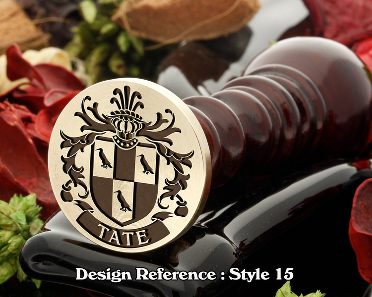 Tate Family Crest Wax Seal D15