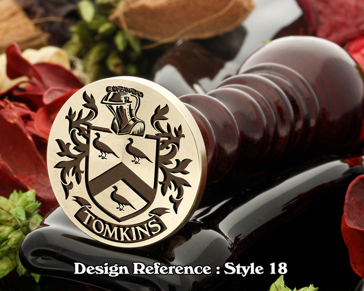 Tomkins Family Crest Wax Seal D18