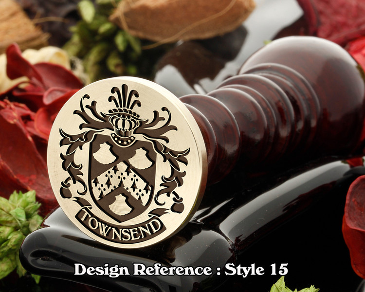Townsend Family Crest Wax Seal D15