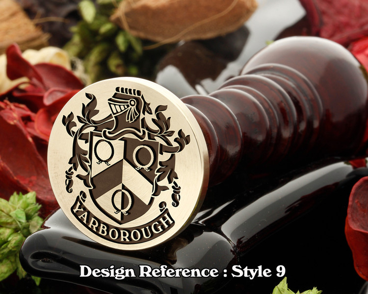 Yarborough Family Crest Wax Seal D9