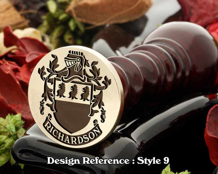 Richardson Family Crest Wax Seal D9