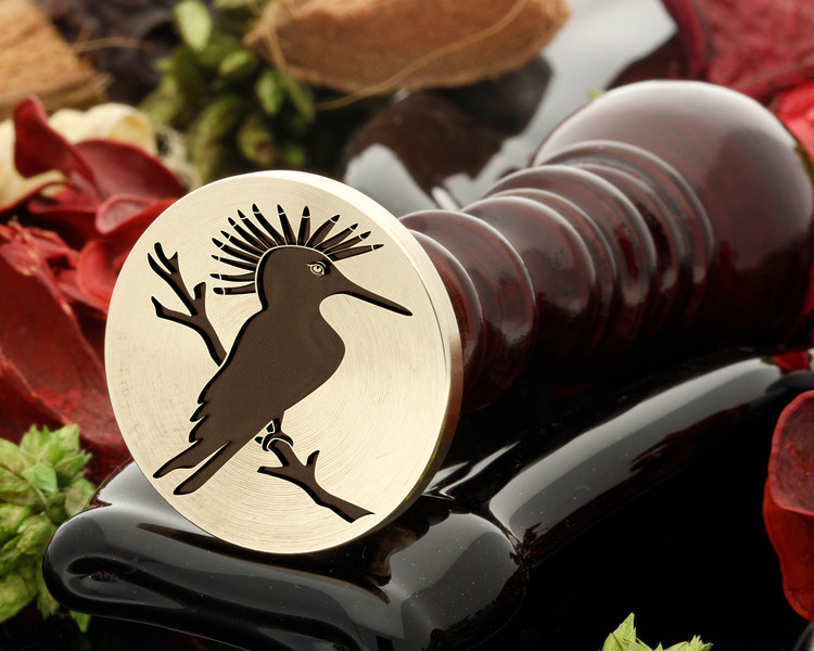 Hoopoe Bird Wax Seal Stamp