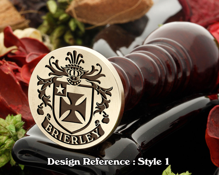 Brierley Family Crest Wax Seal D1