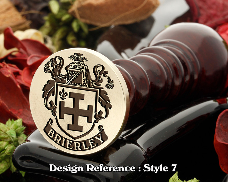 Brierley D2 Family Crest Wax Seal D7