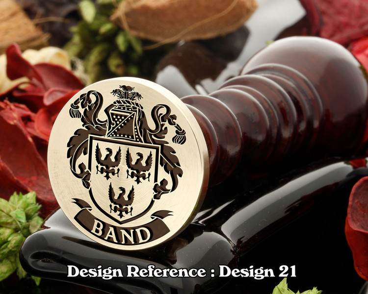 Band Family Crest Wax Seal D21
