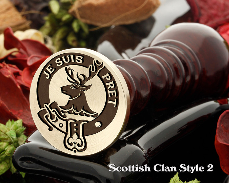 Fraser of Lovat Scottish Clan Wax Seal D2 - Je Suis Pret