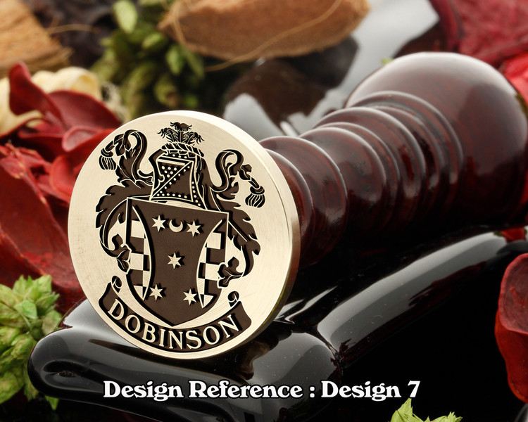 Dobinson Family Crest Wax Seal D7