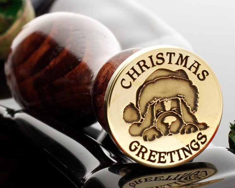 Santa Pup Christmas Greetings Wax Seal