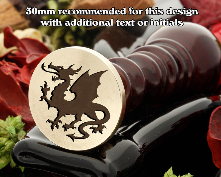 Dragon D9 Wax Seal Stamp, also available as a peel n stick no set up fee