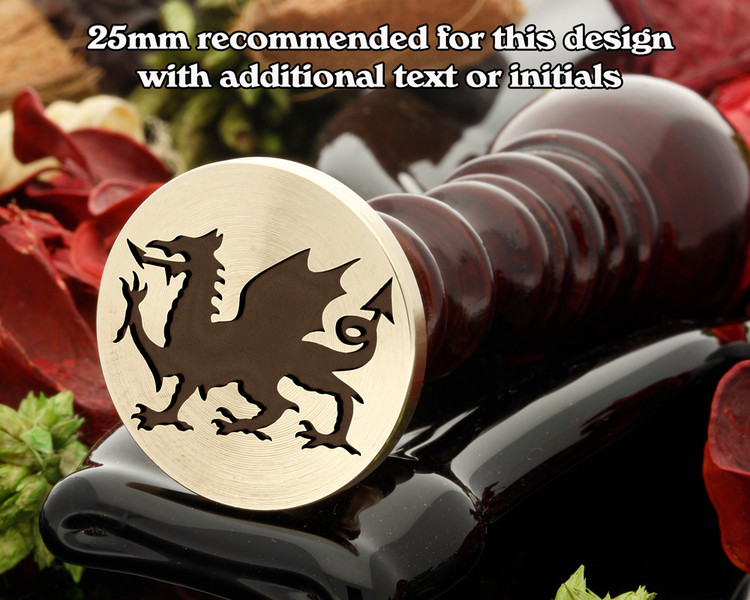 Welsh Dragon D3 Wax Seal Stamp