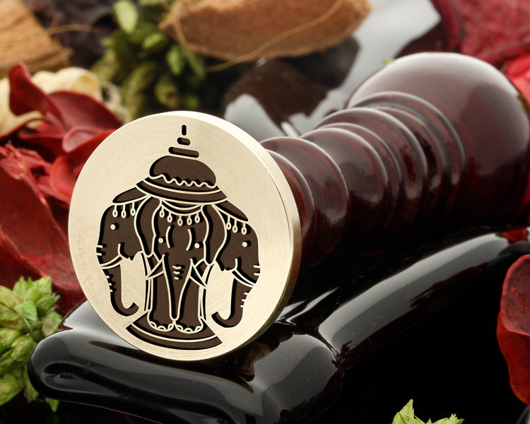 Three Indian Elephants Wax Seal Stamp