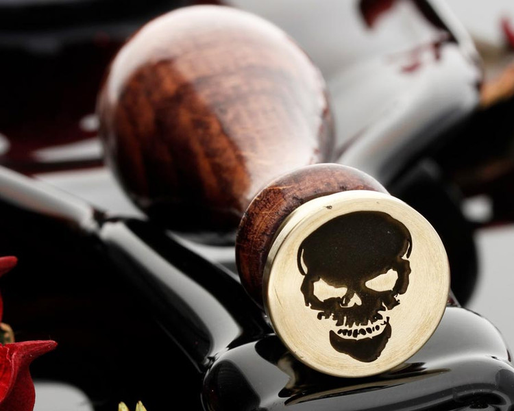 Wax Seal Custom Engraved Skull 9 (photo reversed)