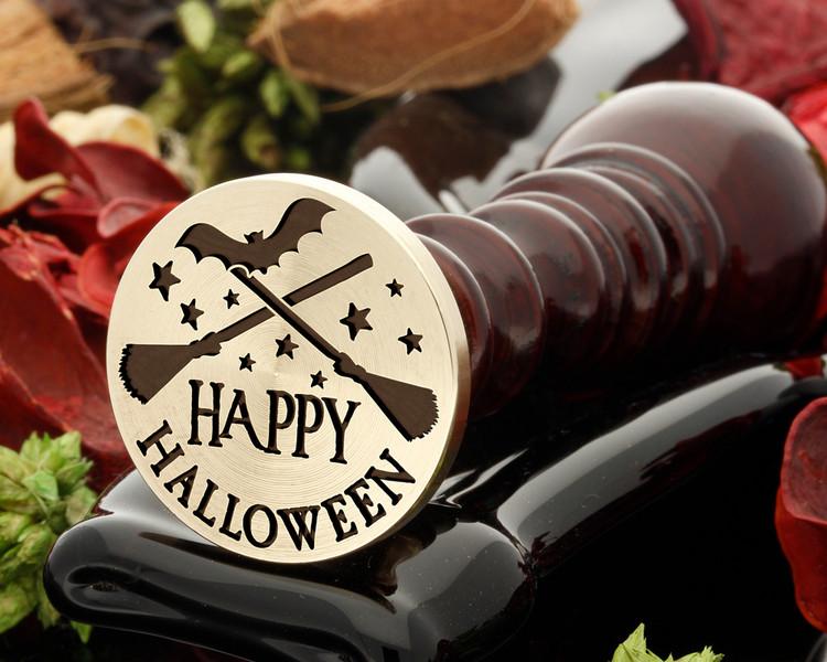 Happy Halloween Broomsticks Design