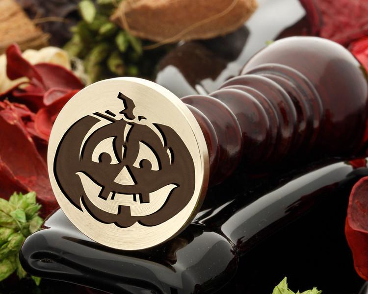 Pumpkin D1 Halloween wax seal