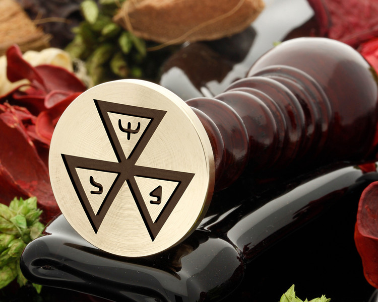 Masonic 5 wax seal