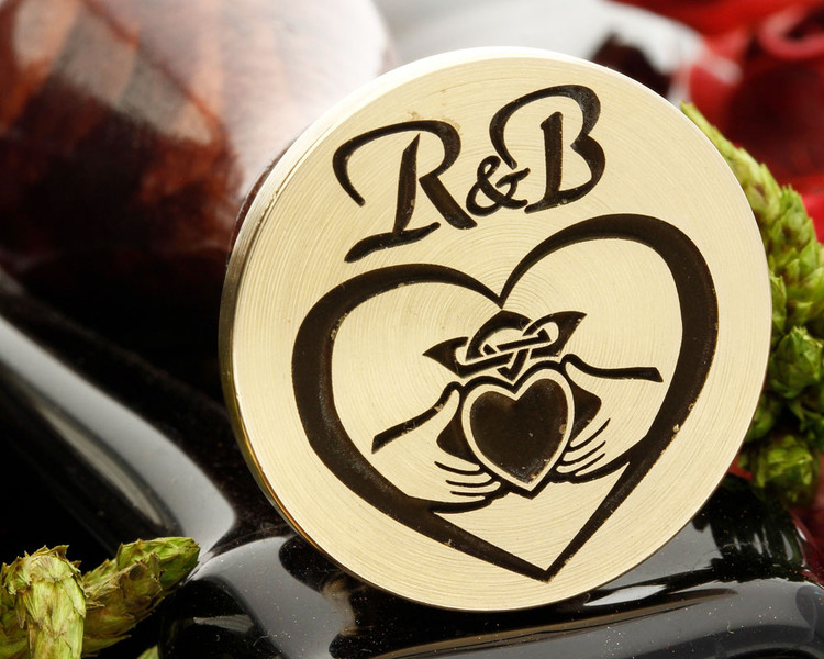 Claddagh Wax Seal Stamp, initials extra cost