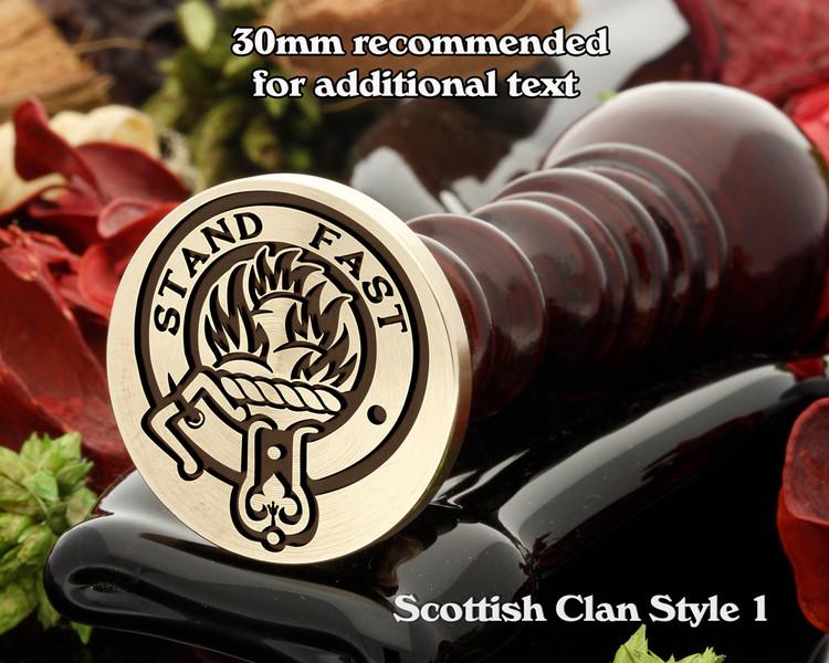 Grant Scottish Clan Wax Seal D1