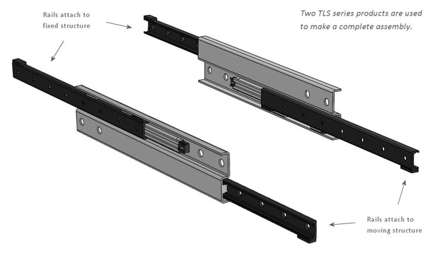 TLS43 Telescopic Linear Guide Assembly