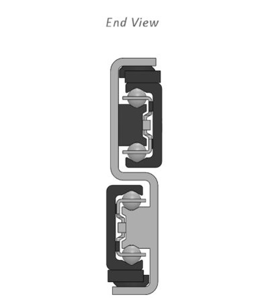 TLS43 Telescopic Linear Guide End View