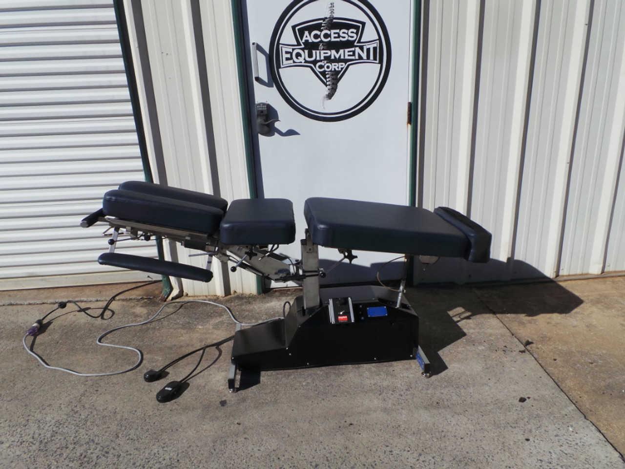 Used Leander Elevation Auto Flexion Table with Cervical Drop, Chest Drop, Pelvic Drop
