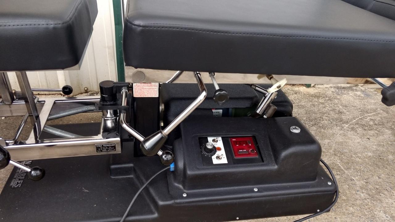 Used Titan Elevation Auto Flexion Table With Pelvic  Drop